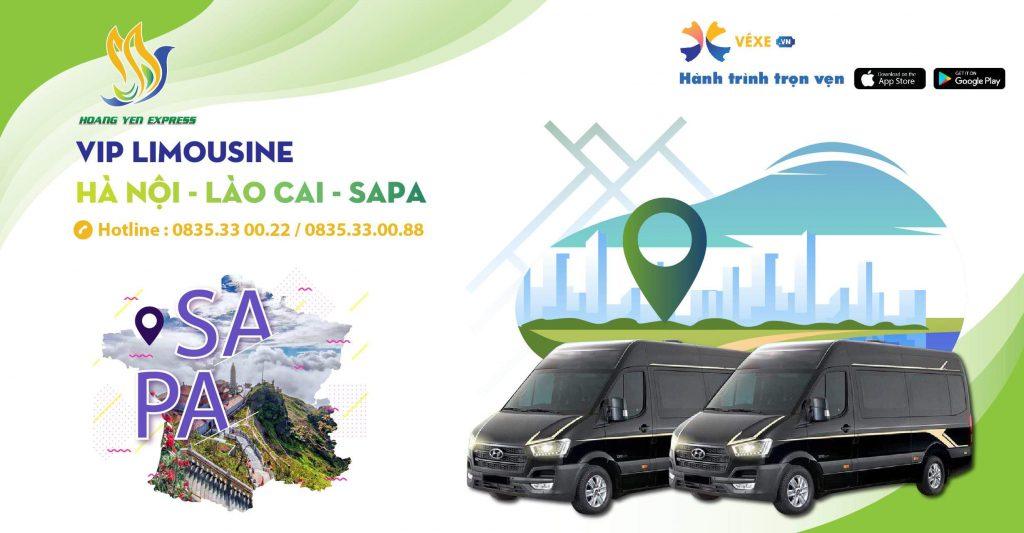 xe vip limousine đi sapa từ Hà Nội