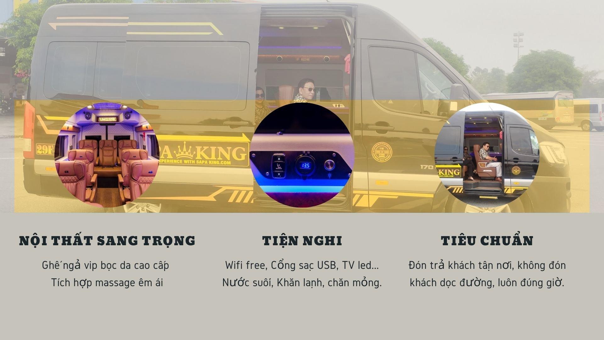 Xe Sapa King Limousine - Nội thất xe
