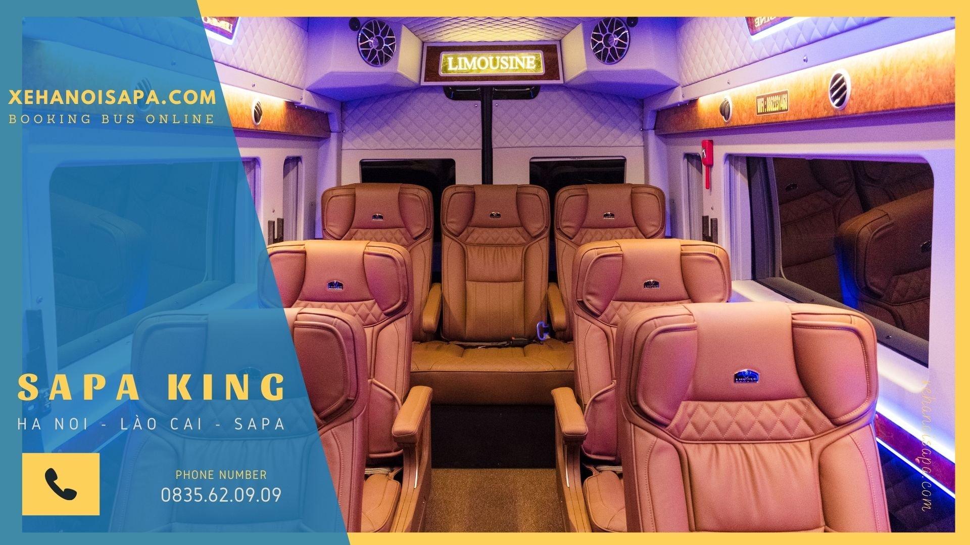 Xe Sapa King Limousine - Ghế phía sau tài ngả sâu êm ái