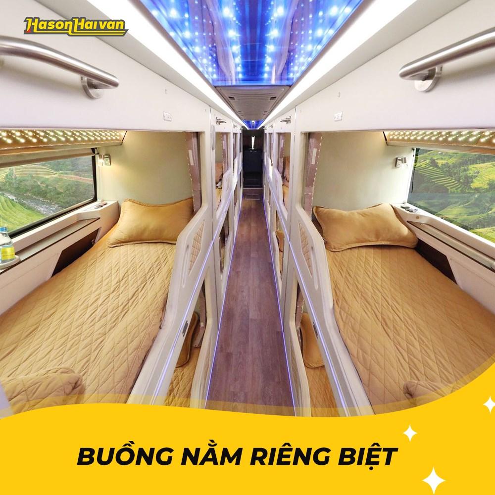 xe limousine đi Lào Cai - Hãng xe Hà Sơn - Hải Vân - Limousine Phòng nằm VIP