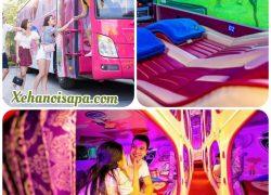 Xe giường nằm đôi Hà Nội đi Sapa - Không gian, nội ngoại thất được trang trí rất teen của Interbus Line