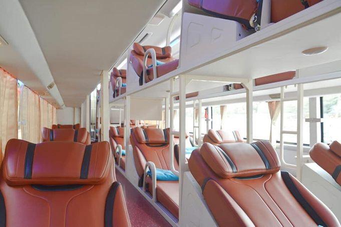 Xe giường nằm đi Sapa - Nội thất, giường nằm chất lượng cao của hãng xe Fansipan Express