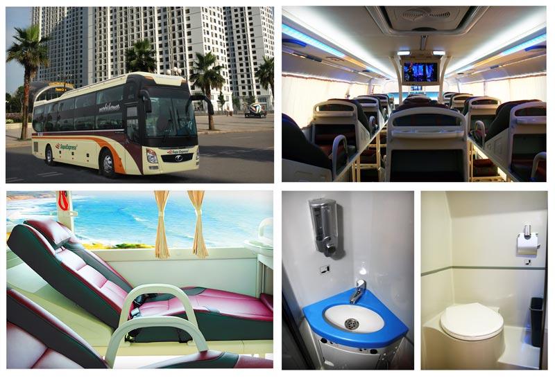 Xe giường nằm đi Sapa - Nội, ngoại thất của Sapa Express - tiện nghi, sạch sẽ và êm ái