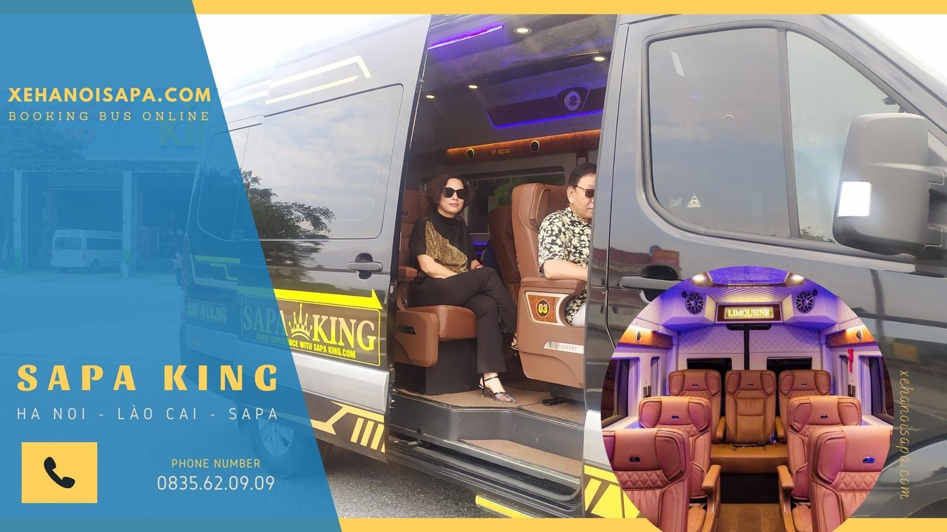 Đặt vé xe đi Sapa - Xe riêng cho đoàn 8-9 người limousine 9 chỗ Sang trọng và đẳng cấp