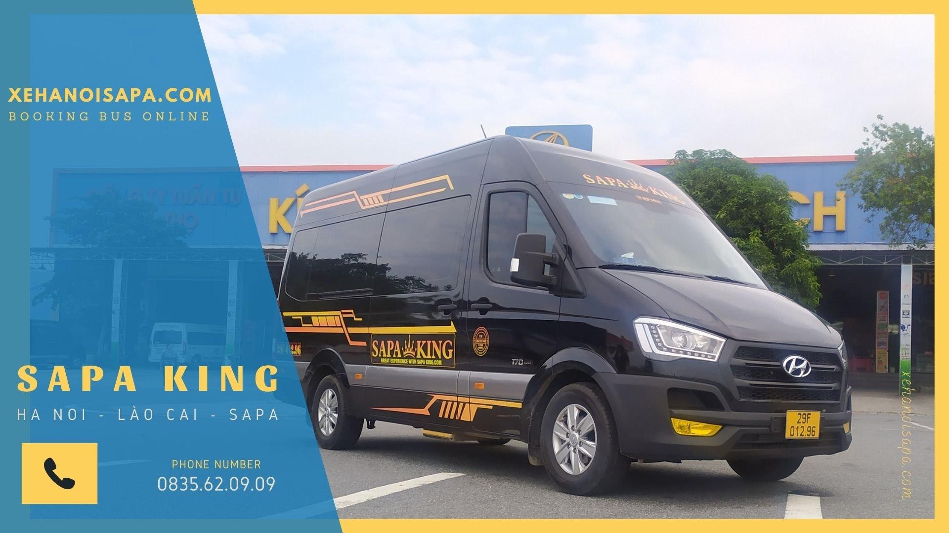 Vé xe Nội Bài đi Sapa - Xe limousine Sapa King