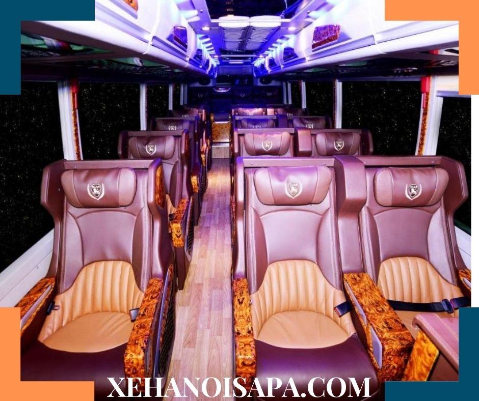 Vé xe Nội Bài đi Sapa - Đặt xe tại Xehanoisapa.com - Xe Limousine 18 chỗ ngồi sang trọng
