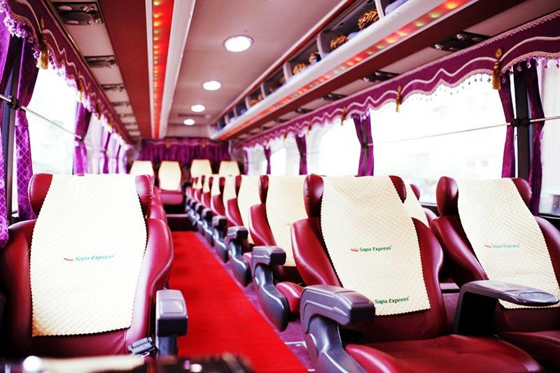 Vé xe Nội Bài đi Sapa - Xe limousine 29 Chỗ VIP của Sapa Express