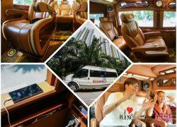 Xe limousine đi Sapa - Nội thất tổng thể và chi tiết của xe Ecosapa Limousine sang trọng và tiện nghi
