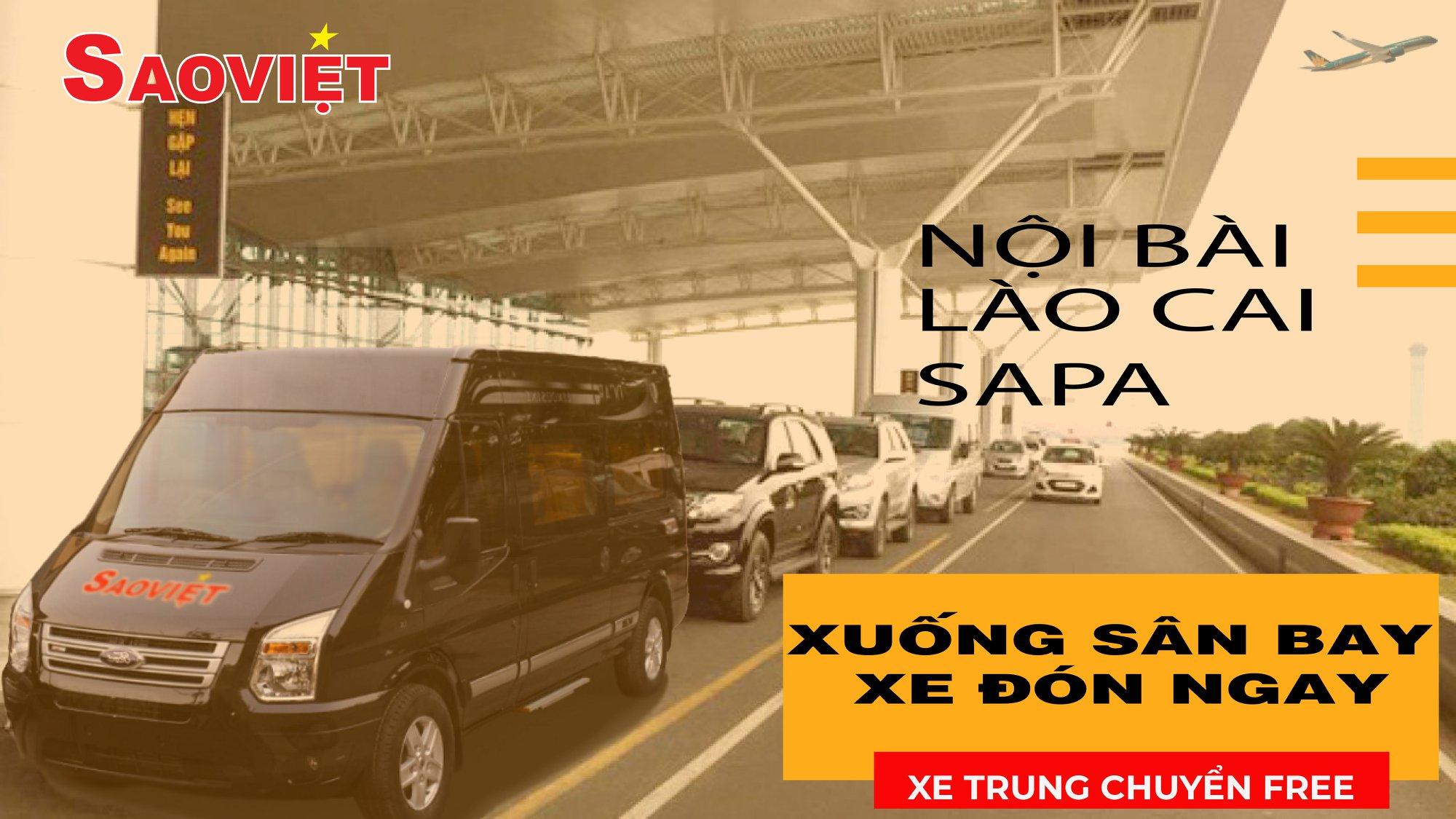 Hãng xe Sao Việt - Xe trung chuyển đón trả khách tại sảnh Sân Bay Nội Bài