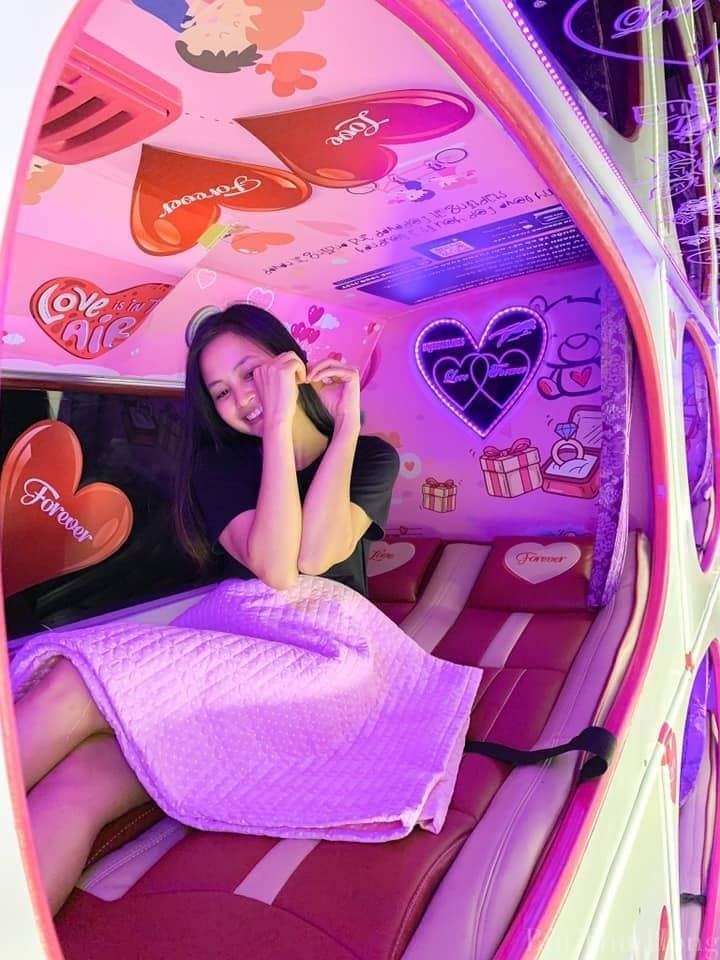 Xe Cabin VIP Hà Nội - Sapa - Hà Nội - Khoang nằm của hãng xe Interbus Line