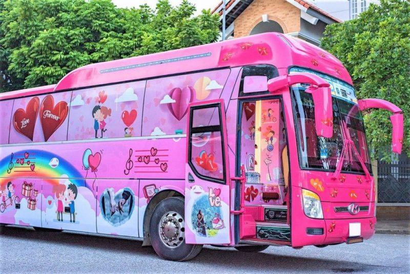 Xe Cabin VIP Hà Nội - Sapa - Hà Nội - Hãng xe Interbus Line nổi bật với những màu sắc ngọt ngào