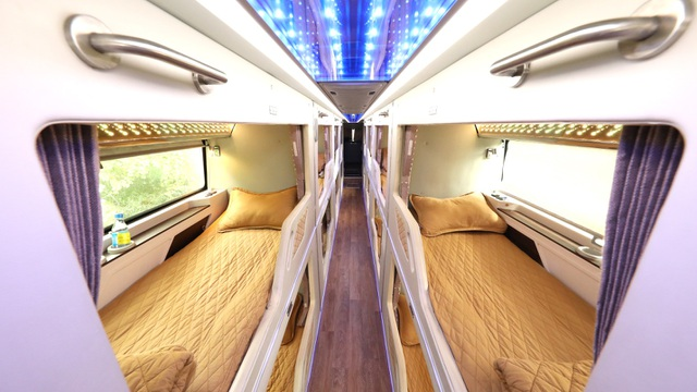 Hãng xe Hà Sơn Hải Vân - Phòng VIP của xe Cabin Hà Sơn Hải Vân