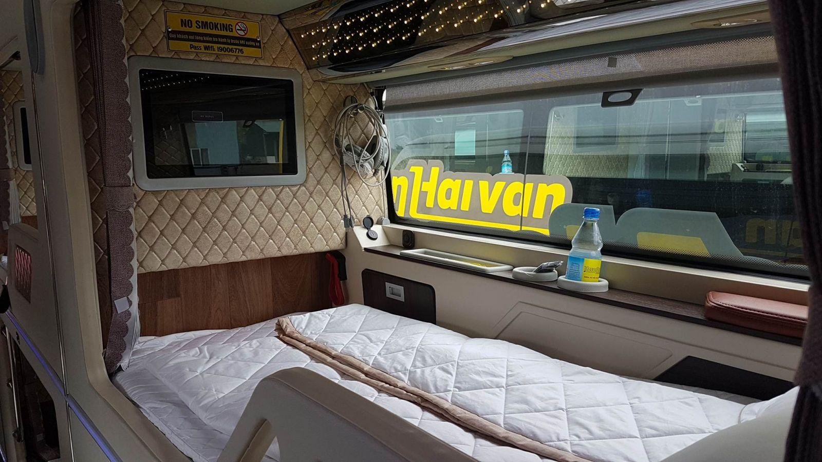 Hãng xe Hà Sơn Hải Vân - Cabin VIP, tiện nghi và sang trọng