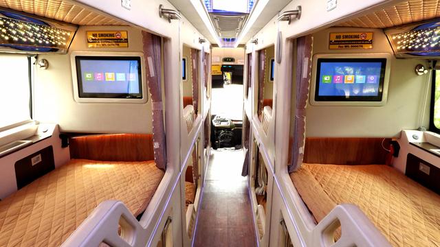 Hãng xe Hà Sơn Hải Vân - Phong VIP cao cấp , đầy đủ tiện nghi sang trọng