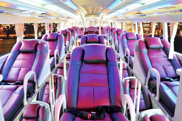 Hãng xe Sapa Queen - Giường nằm thoải mái, không gian ánh sáng đèn LED dịu nhẹ