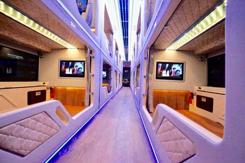 Xe Cabin VIP Hà Nội - Sapa - Hà Nội -Phòng nằm tiện nghi của Hãng xe Fansipan Express