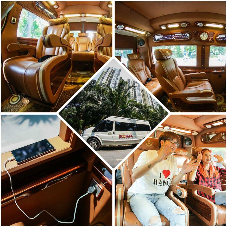 Xe Limousine Hà Nội đi Sapa - Tiện nghi và sang trọng