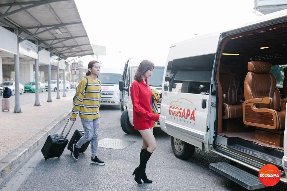 Hãng xe Eco Sapa Limousine - Đưa đón khách tại Sân Bay