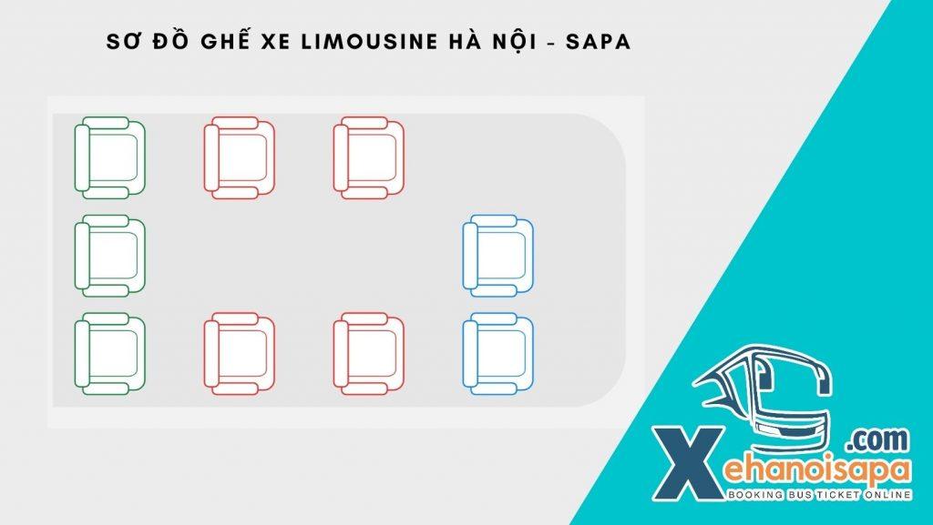 Sơ Đồ Ghế Xe Limousine Hà Nội - Sapa